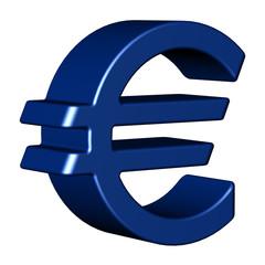 Eurozeichen blau 3D
