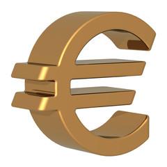 Eurozeichen gold 3D