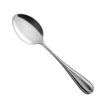 spoon on white background