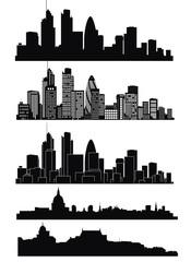 Vector of London skyline