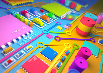 Colourful circuit board