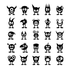 Set of funny monsters.