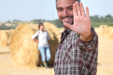 Couple on agricultural land