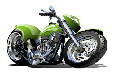 Photo sur Plexiglas Motocyclette Vector Cartoon Motorcycle