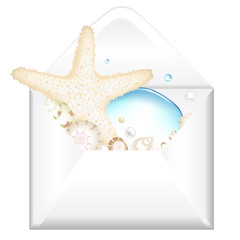 Open Envelope With Starfish