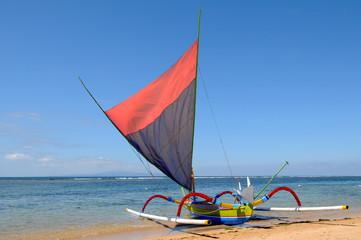 Bateau de pêche balinais