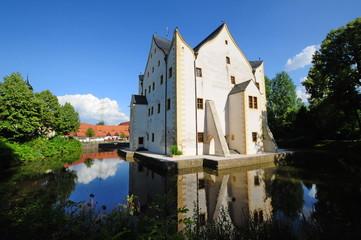 Wasserschloss Klaffenbach Ansicht von der Seite