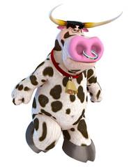 bull cartoon in angry bull
