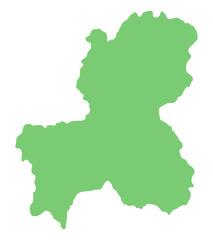 岐阜県の地図