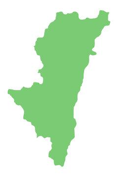 宮崎県の地図