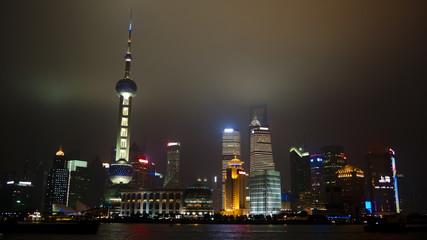 Shanghai Pudong at night