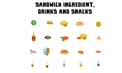 Sandwich ingredient, drinks and snacks