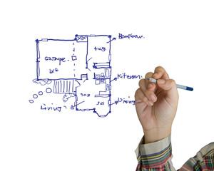 Drawing house plan