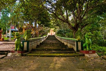 Main entrance of Wat Leu, Sihanoukville, Cambodia
