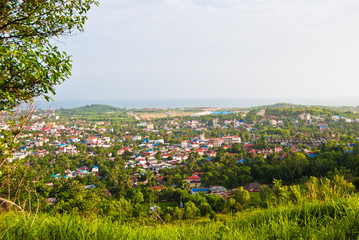 the view from the top of the Sihanoukville, Cambodia