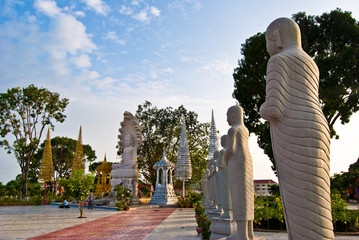 statues in the Independence Square #2, Sihanoukville, Cambodia