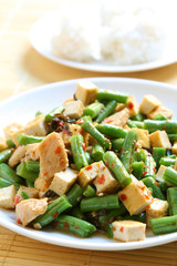 Spicy Green Bean and Tofu