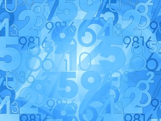 numbers background illustration