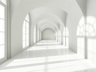 Fototapeta Modern long corridor obraz