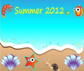 summer holiday web and print template Party Flyer