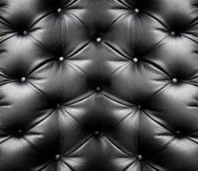 Foto auf Leinwand Leder black leather
