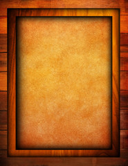 paint background with wood frame
