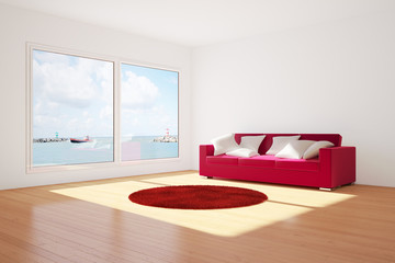 Room with couch and carpet