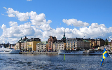 View of the beautiful architecture of Stockholm