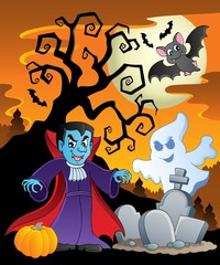 Scene with Halloween theme 7