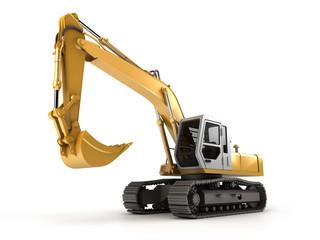 Hydraulic Excavator. Perspective