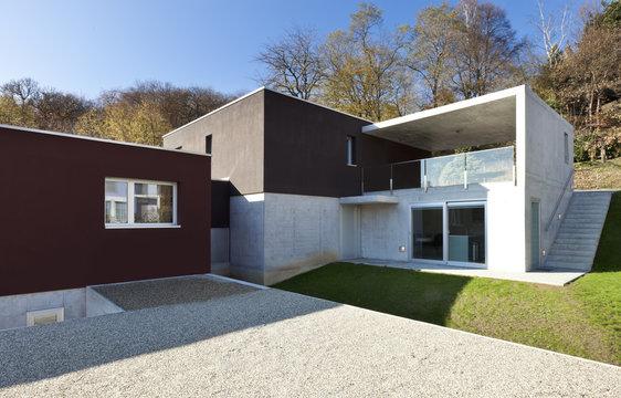 beautiful modern house, outdoor