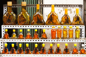 Bottles with snakes and scorpions