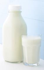quart glass milk bottle