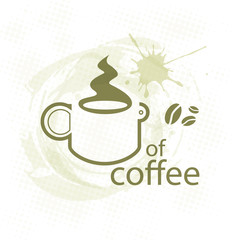 cup of coffee on dirty background - illustration