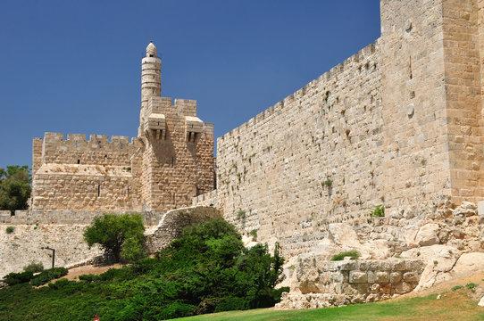 King David  tower and  Old Jerusalem wall.