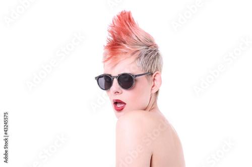 Junge Frau Iro Punk Stockfotos Und Lizenzfreie Bilder Auf Fotolia