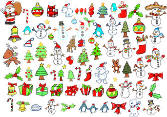 Christmas Holiday Winter Vector Set