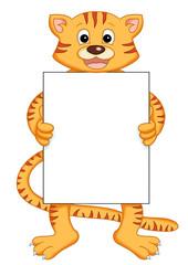 tigre con messaggio