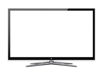 Frontal view of widescreen lcd or lcd monitor