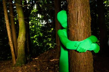 green tree hugger