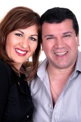 Closeup portrait of a happy mature couple