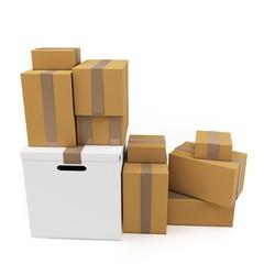 3d blank carton boxes
