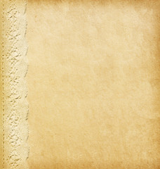Beige background with lacy border