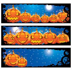 vector illustration of halloween banners