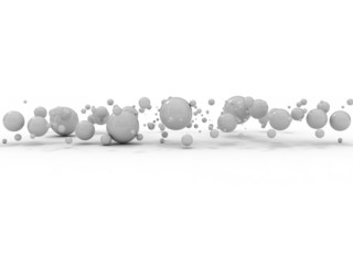abstract business bubbles background in grey color