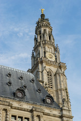 Tower of St Vaast church in Arras