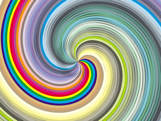 Aluminium Prints Psychedelic Vortex in colors.