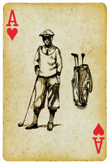 ace of golf, hand drawing