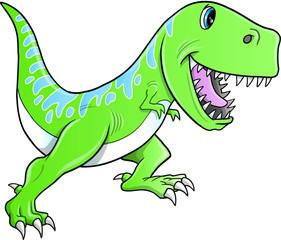 Cute Tyrannosaurus Dinosaur Vector Illustration