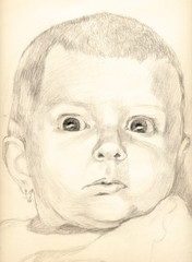 baby - pencil technique